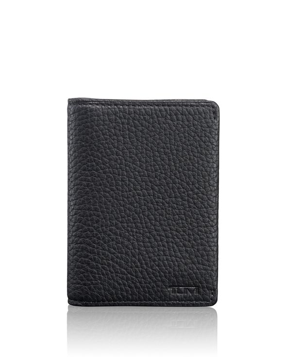 Gusseted Card Case in Matte Black