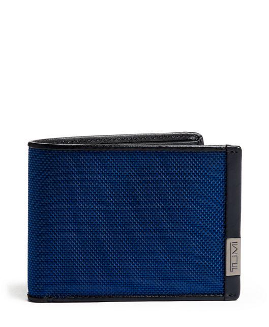 TUMI ID Lock™ Double Billfold in Blue/Congo Print