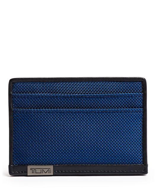 TUMI ID Lock™ Slim Card Case in Blue/Congo Print