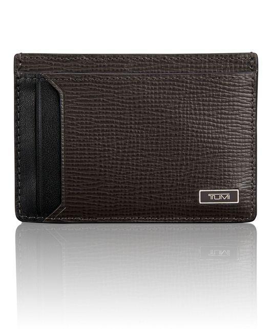 TUMI ID Lock™ Money Clip Card Case in Taupe