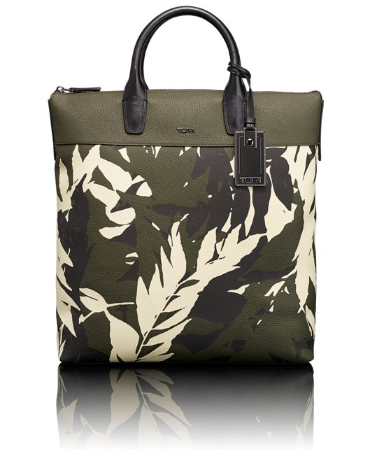 Whitman tote in Fern Print