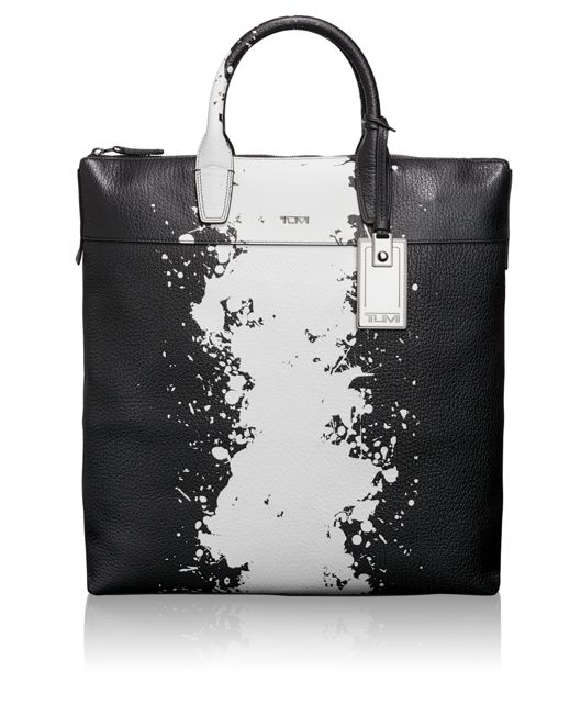 Whitman tote in Splatter Stripe