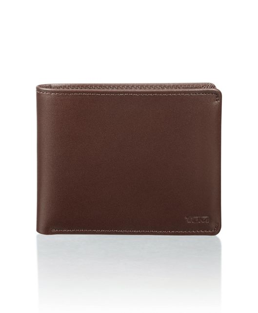 Global Double Billfold in Dark Brown Smooth