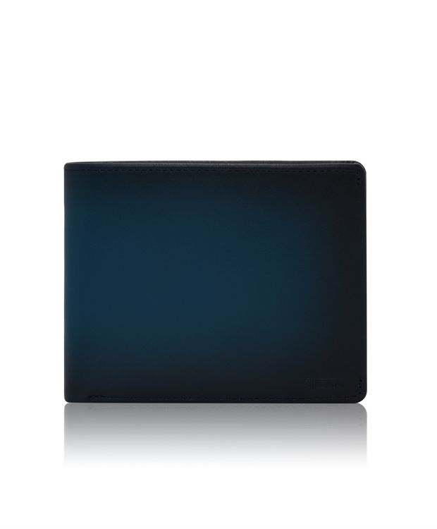 Global Double Billfold in Blue Burnished