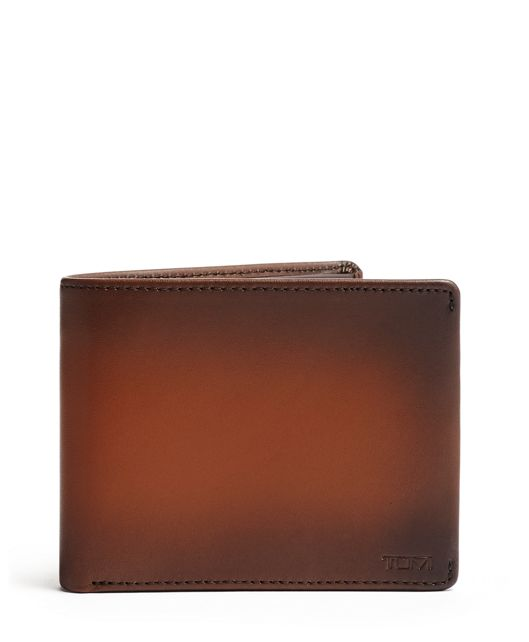 Global Double Billfold in Whiskey  Burnished