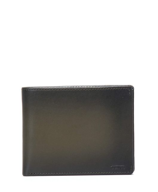 Global Double Billfold in Green Burnished