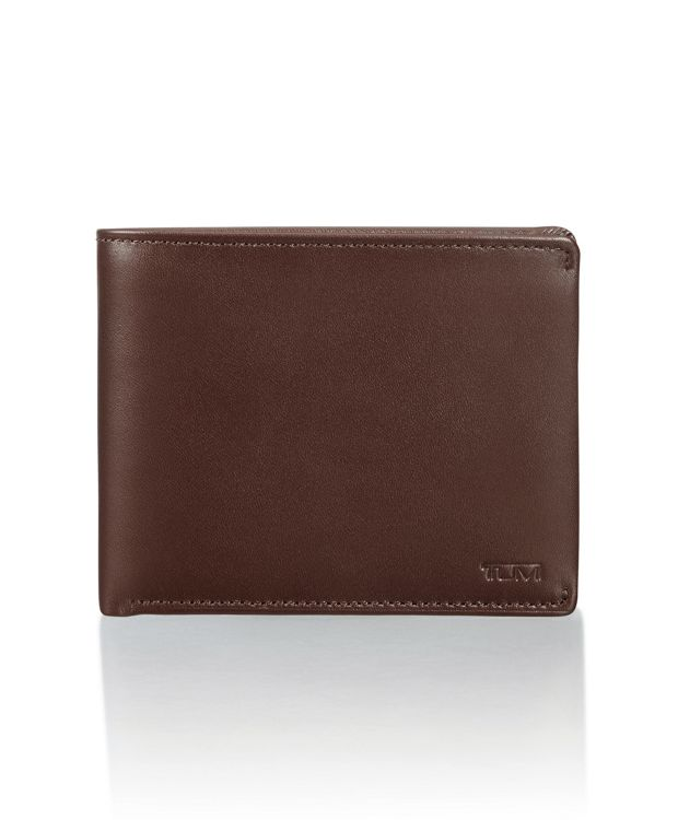 Global Wallet with Coin Pocket in Dark Brown Smooth