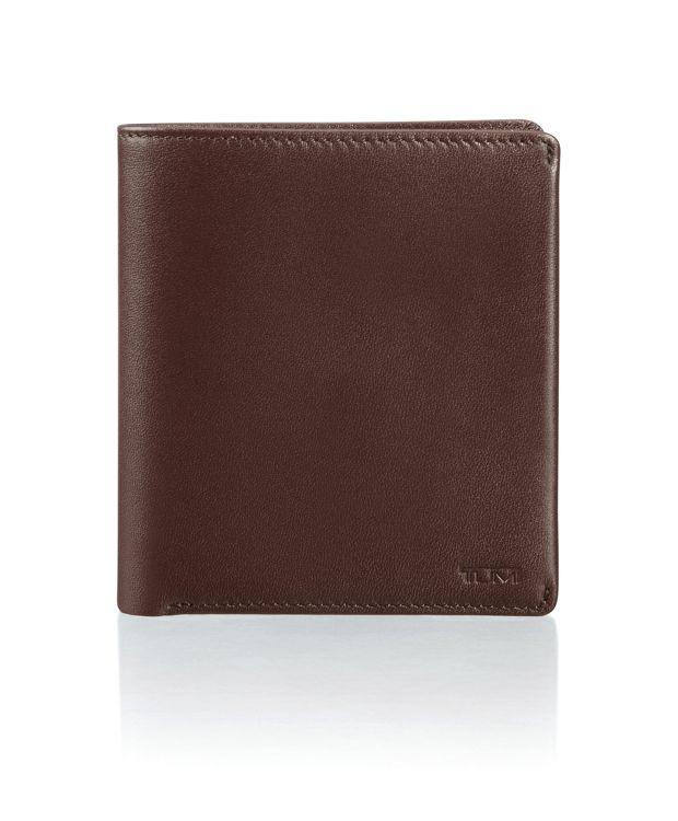 Global Vertical Flip Coin Wallet in Dark Brown Smooth
