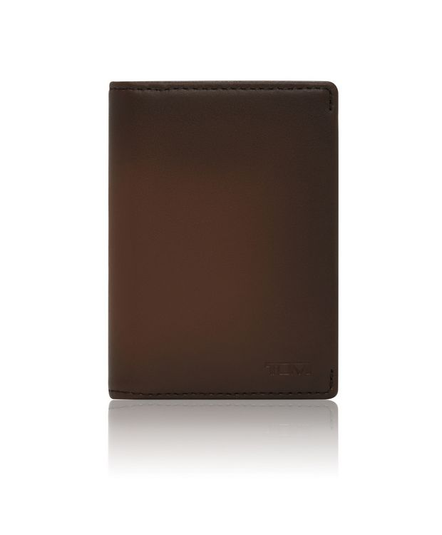 Gusseted Card Case in Whiskey Burnished