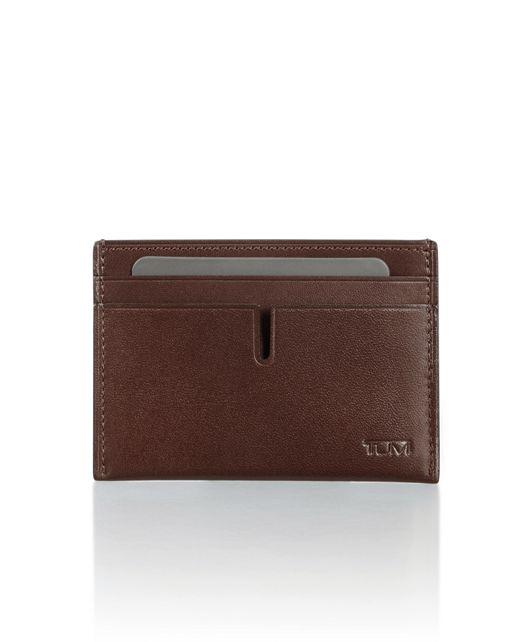 Slim Card Case in Dark Brown Smooth