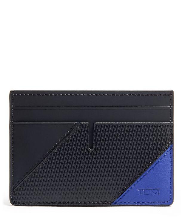 Slim Card Case in Blue  Pieced