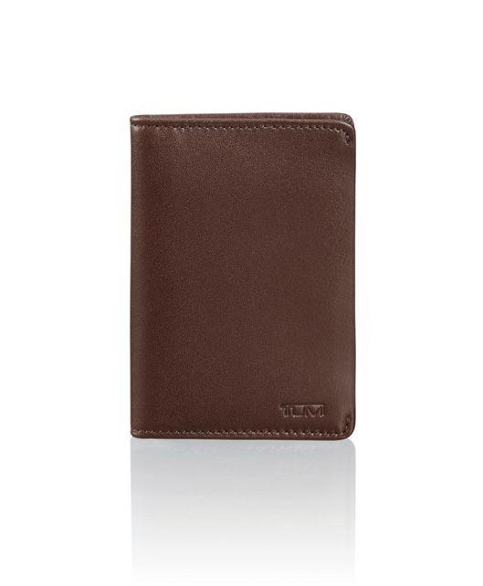 Multi Window Card Case in Dark Brown Smooth