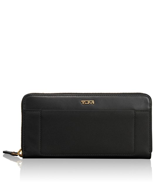 Zip-Around Continental in Black