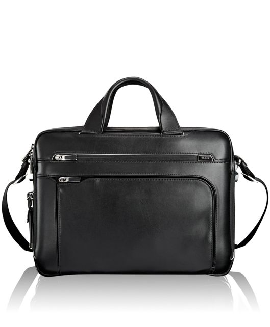 Sawyer Leather Brief in Black
