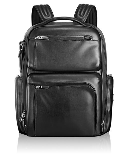 Bradley Leather Backpack in Black