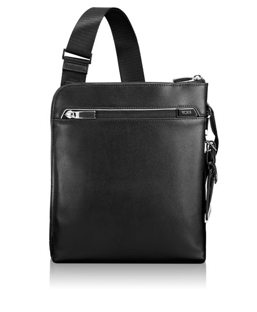 Owen Leather Crossbody in Black