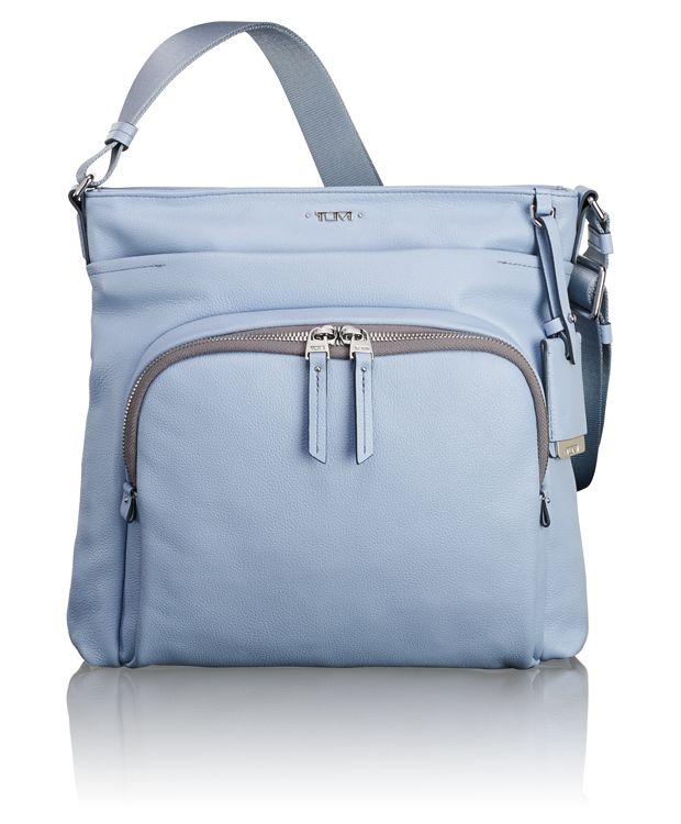 Capri Leather Crossbody in Light Blue