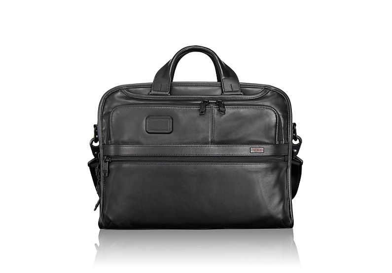 Organizer Portfolio Leather Brief in Black
