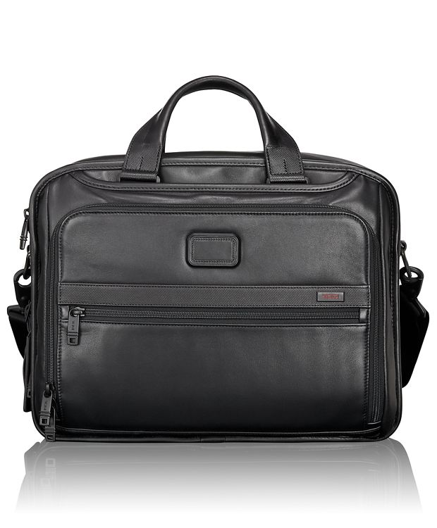 Organizer Leather Brief in Black
