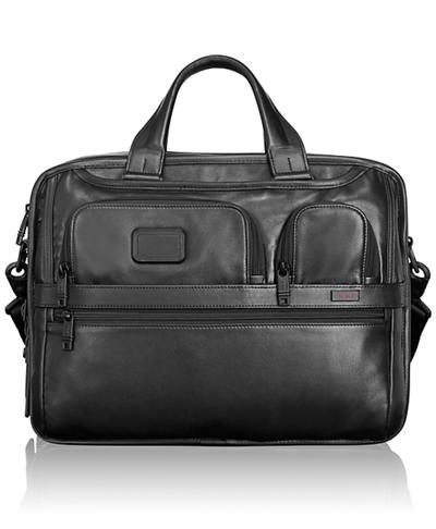 Expandable Organizer Laptop Leather Brief