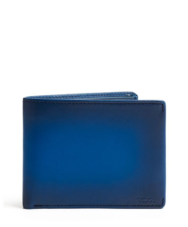 TUMI ID Lock™ Global Double Billfold in Blue Burnished