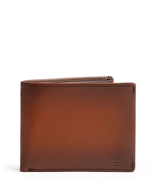 TUMI ID Lock™ Global Double Billfold in Whiskey Burnished