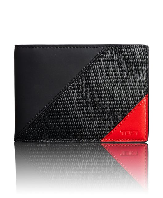 TUMI ID Lock™ Double Billfold in Ember Pieced Leather