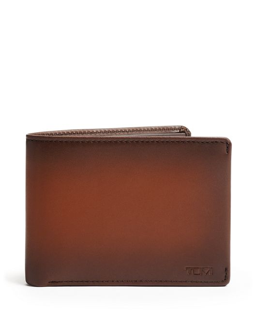 TUMI ID Lock™ Double Billfold in Whiskey Burnished