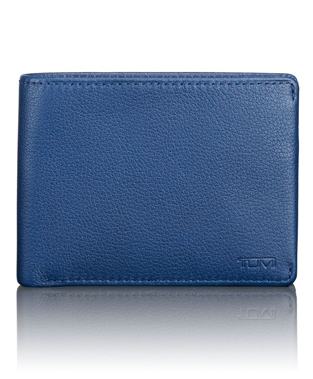 TUMI ID Lock™ Double Billfold in Ocean Blue Textured