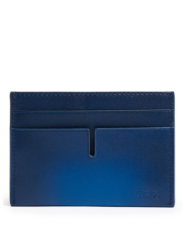 TUMI ID Lock™ Money Clip Card Case in Blue Burnished