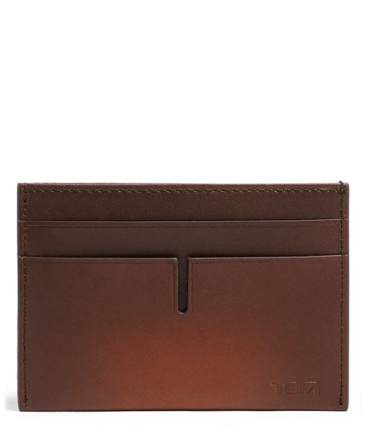 TUMI ID Lock™ Money Clip Card Case in Whiskey Burnished
