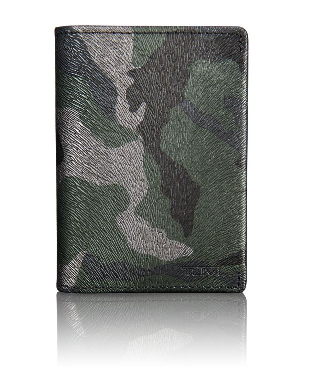 TUMI ID Lock™ Gusseted Card Case in Tundra Camo