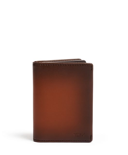 TUMI ID Lock™ Gusseted Card Case in Whiskey Burnished