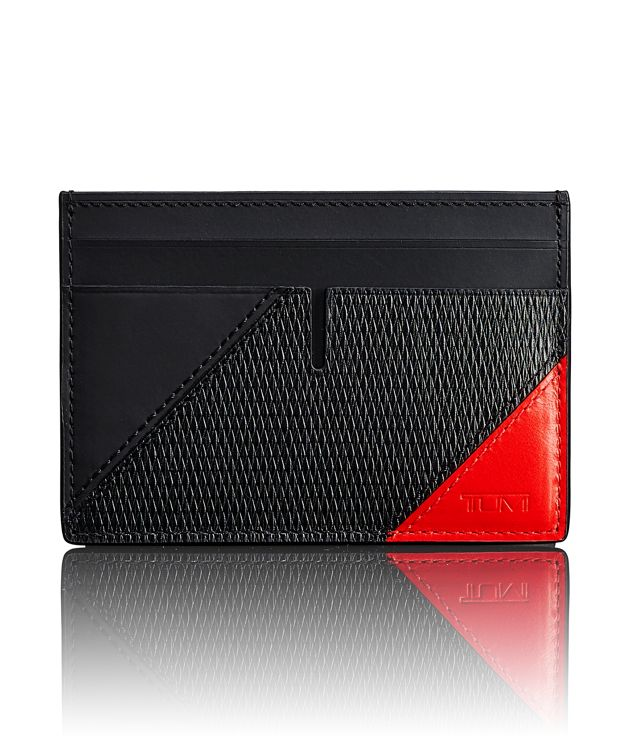 TUMI ID Lock™ Slim Card Case in Ember Pieced Leather