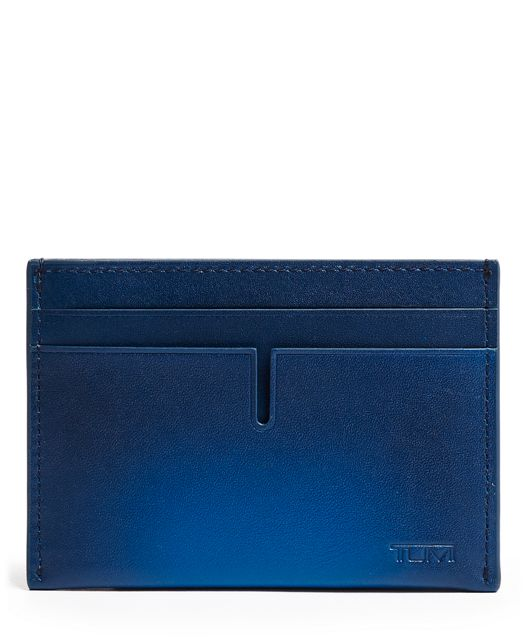 TUMI ID Lock™ Slim Card Case in Blue Burnished