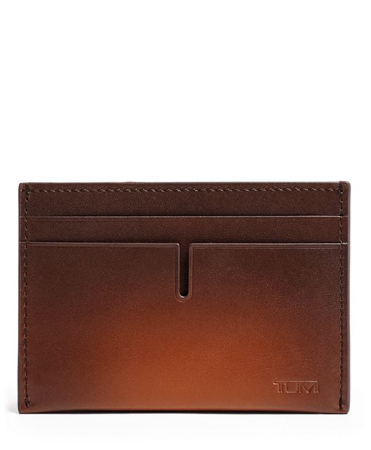 TUMI ID Lock™ Slim Card Case in Whiskey Burnished