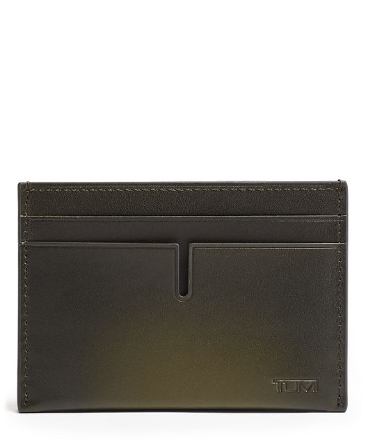 TUMI ID Lock™ Slim Card Case in Green Burnished
