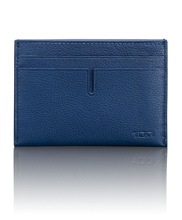 TUMI ID Lock™ Slim Card Case in Ocean Blue Textured