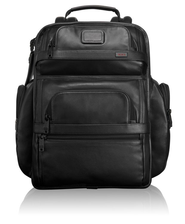 TUMI T-Pass® Business Class Leather Brief Pack® in Black