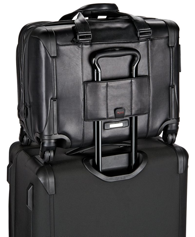4 Wheeled Deluxe Leather Brief with Laptop Case - Alpha 2 | TUMI ...