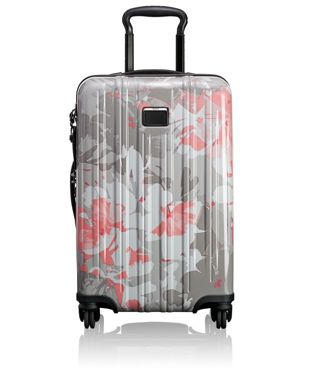 International Expandable Carry-On in Grey Floral Print