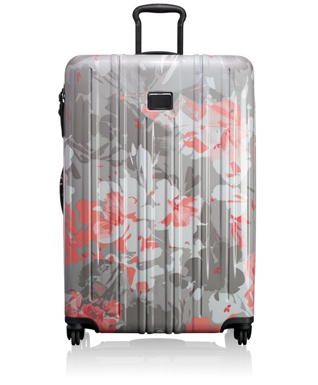 Extended Trip Expandable Packing Case in Grey Floral Print