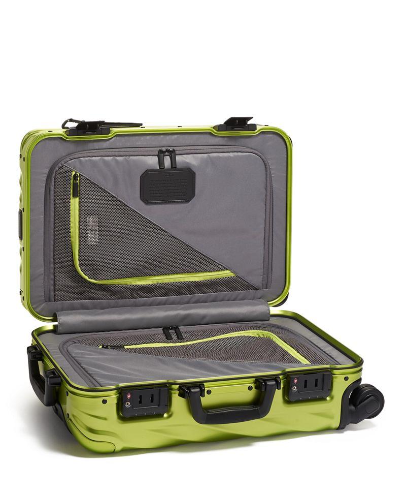 螢光青色國際手提行李箱