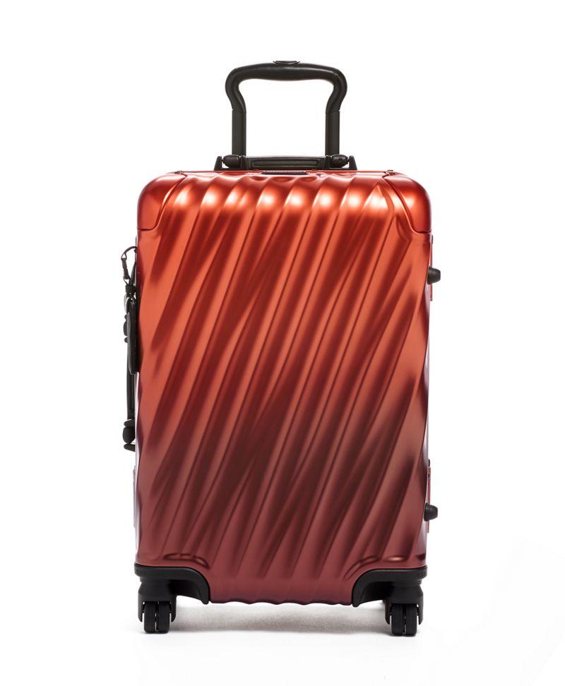 赤竭色漸變國際手提行李箱