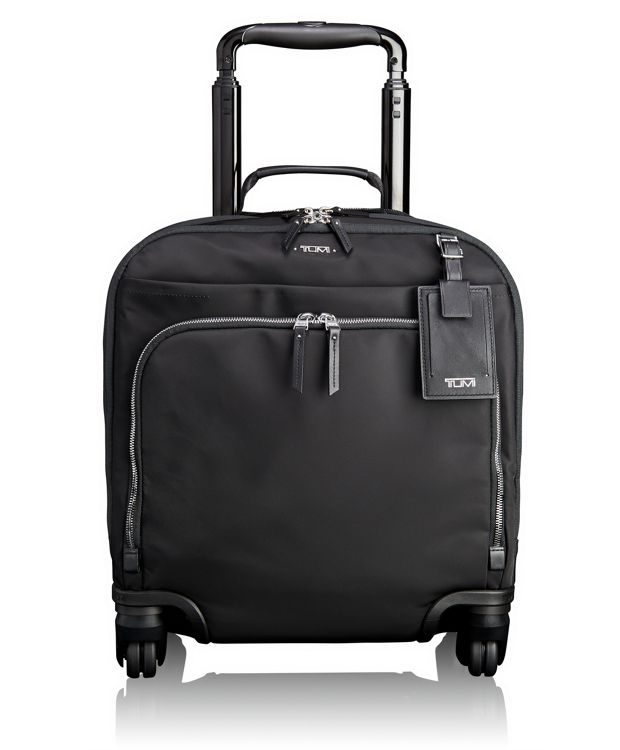 Oslo 4 Wheeled Compact Carry-On in Black/Silver