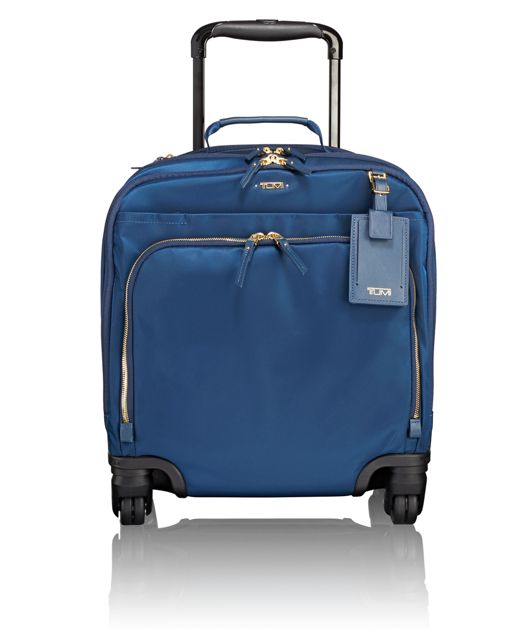 Oslo 4 Wheeled Compact Carry-On in Ocean Blue