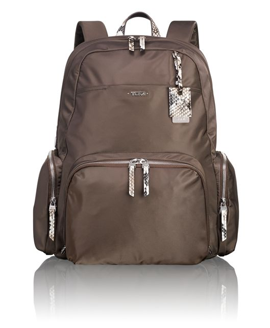 Calais Backpack in Brown Faux-Python