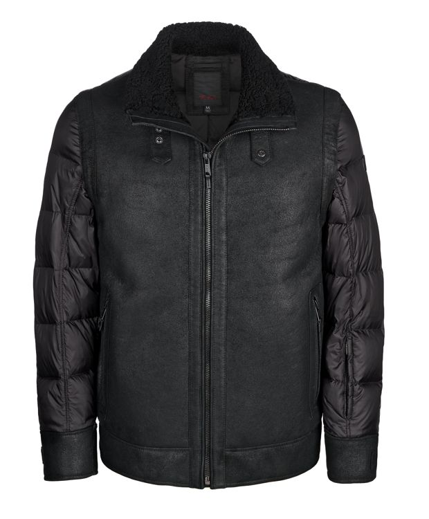 TUMI Shearling Flight Jacket in Black
