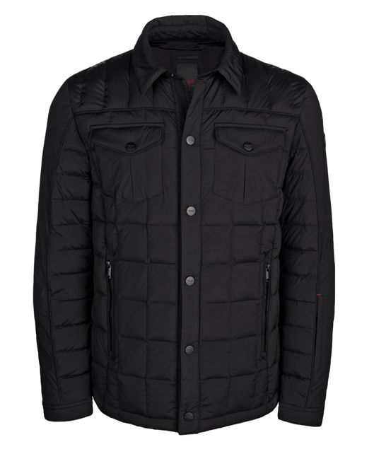 TUMI Stretch Shirt Jacket in Black